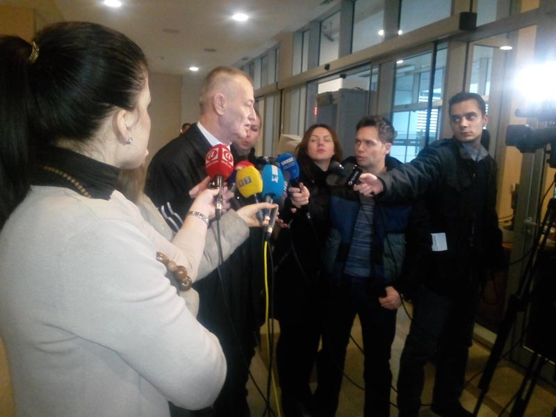 Предсједник КСРС Обрад Белензада даје изјаву за новинаре након констултативног састанка