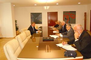Ministar Željko Kovačević u razgovoru sa predstavnicima Sindikata udruženih radnika energetike Republike Srpske